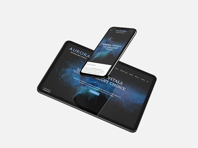 AURORA Crystals Website